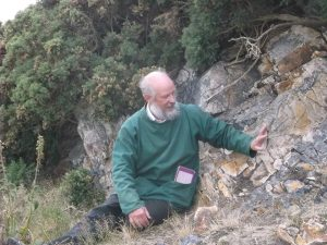 a recent geological walk on the Vardre led by Jonathan Wilkins