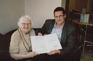 Mrs Betty Mills and Chairman Jason Weyman