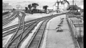railway branch to Conwy / Deganwy with Maelgwn Hotel in the background