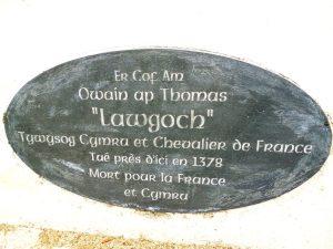 Plaque on monument near Mortagne sur Gironde